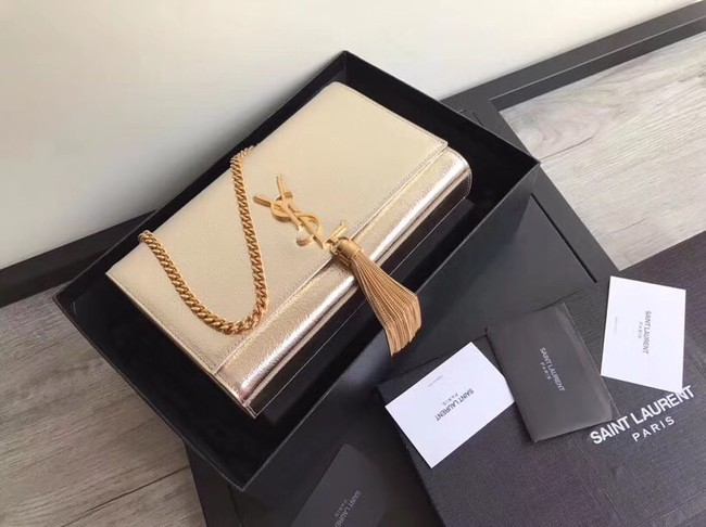 0465ee66c7 SAINT LAURENT Medium Kate cross-body bag 18831 gold