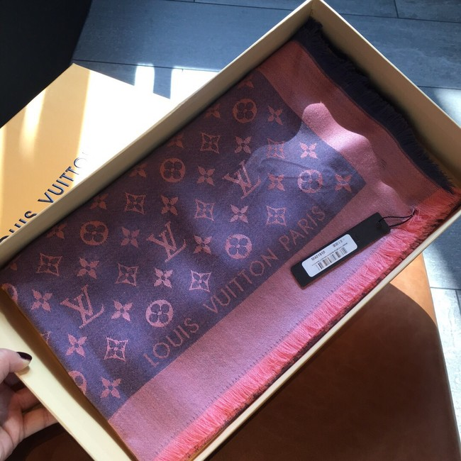 Louis Vuitton MONACO SQUARE Monogram flower pattern silk M71151 blue