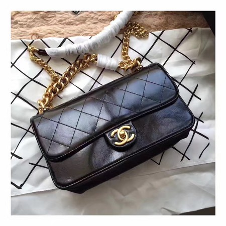 Chanel Classic Flap Bag Sheepskin Leather A33564 Black