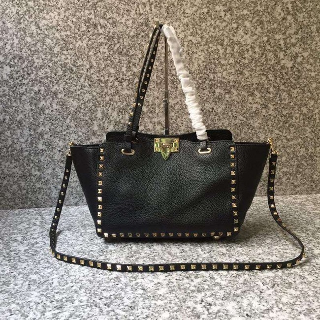 VALENTINO Rockstud medium tote 0972 black