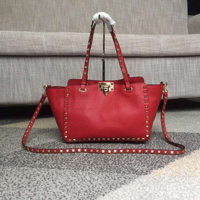 VALENTINO Rockstud medium tote 0972 red
