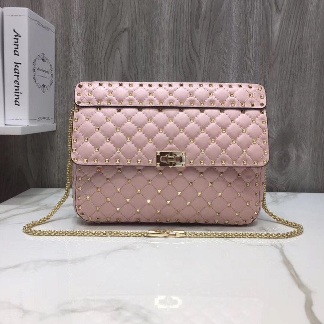 VALENTINO Quilted leather shoulder bag 96593 pink