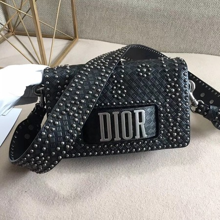 Dior JADIOR Flap Bag Calfskin M8000 Black