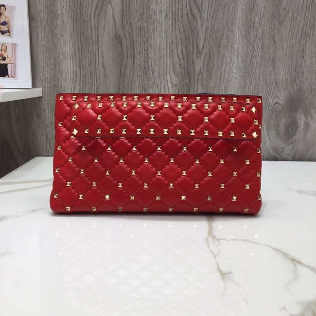 VALENTINO leather clutch 0125 red