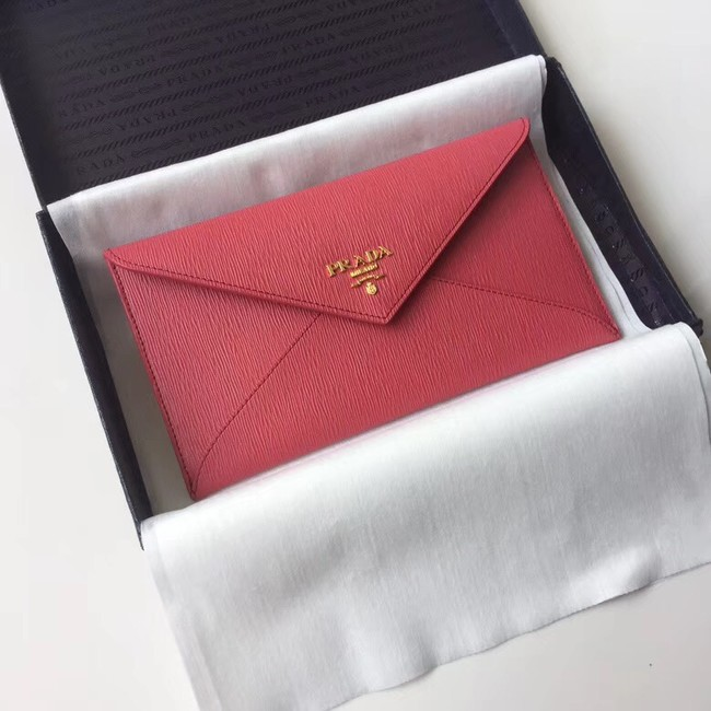 Prada Saffiano leather document holder 1MF175 red