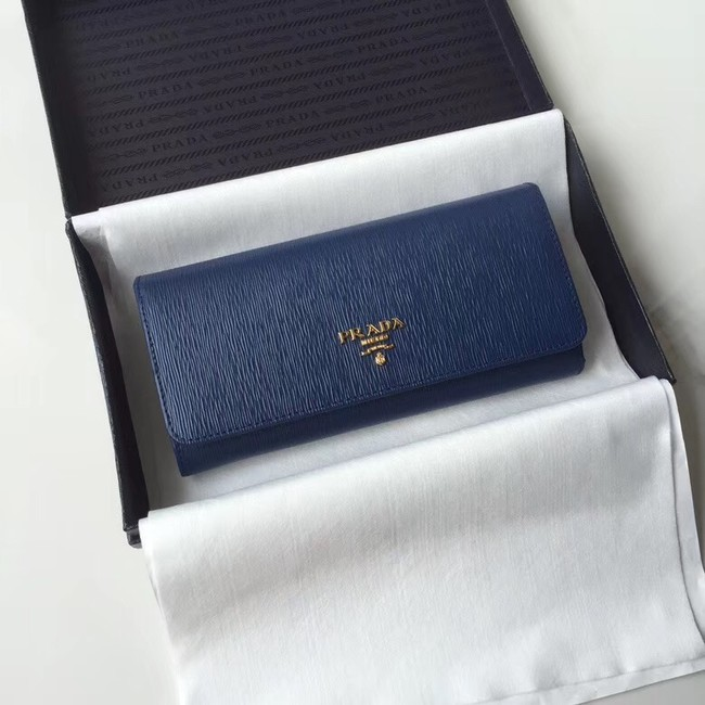 Prada Leather Wallet 1MH132 blue