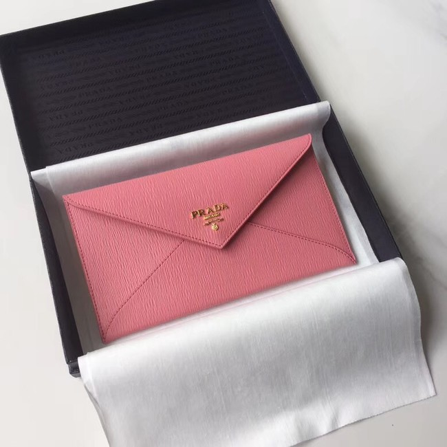 Prada Saffiano leather document holder 1MF175 pink