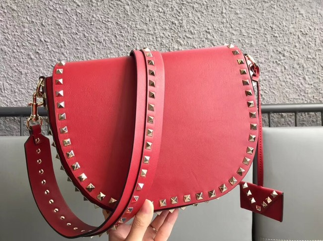 VALENTINO leather shoulder bag 0781 red