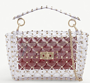 VALENTINO Rockstud Plexy shoulder bag 2687