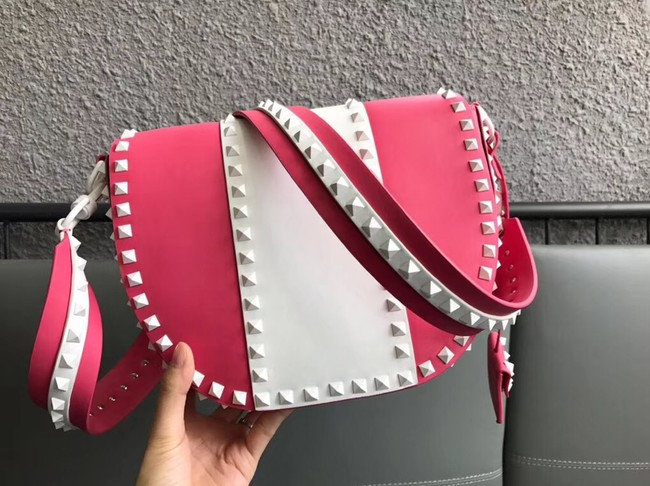VALENTINO leather shoulder bag 0781 rose&white