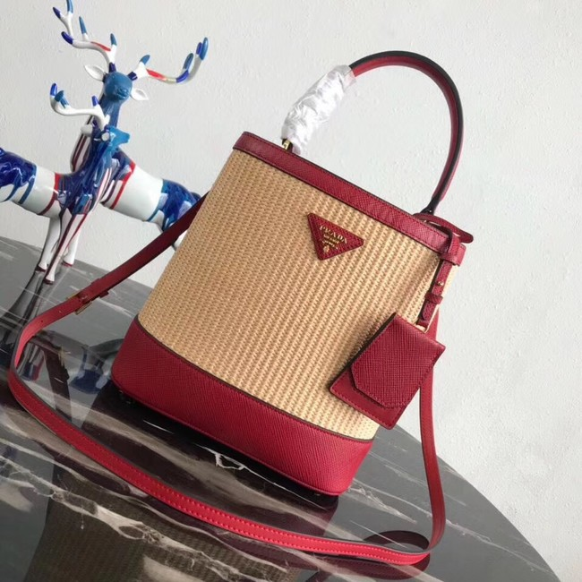 Prada Double Medium bag 1BA210 red