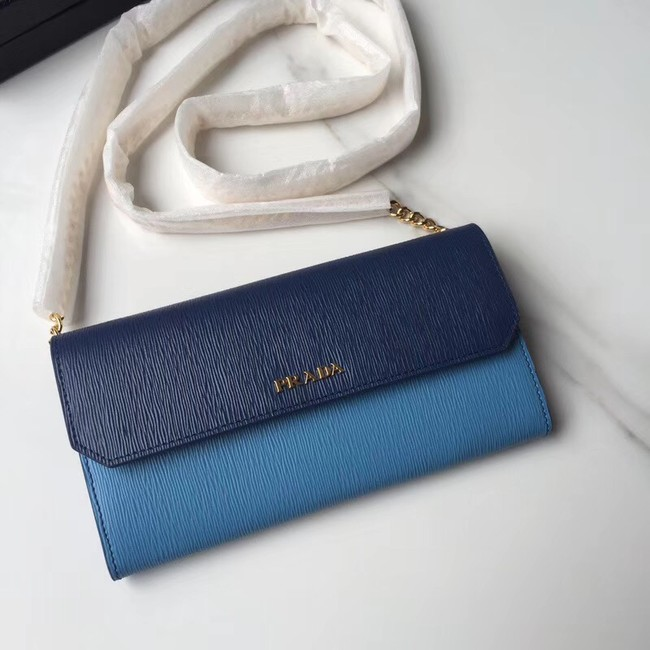 Prada leather mini-bag 1DH002 blue