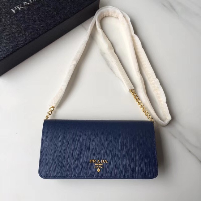 Prada leather mini-bag 1DH044 blue