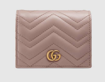 Gucci GG Marmont card case 466492 pink