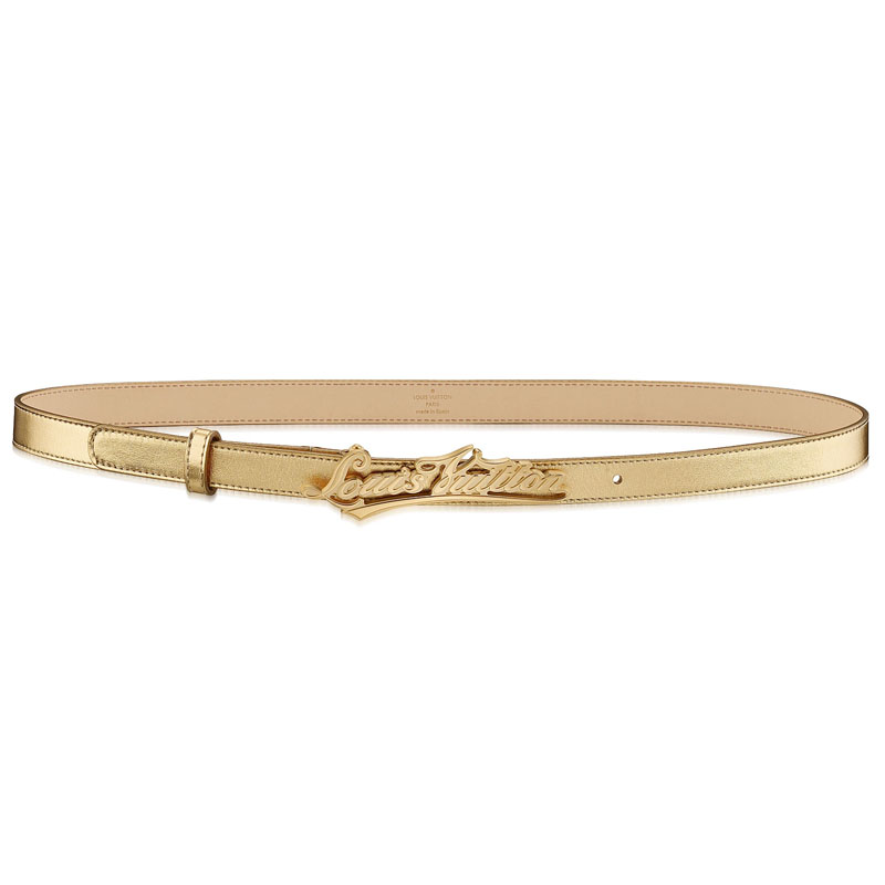 Louis Vuitton HandWriting Calf Leather Belt M6966UB