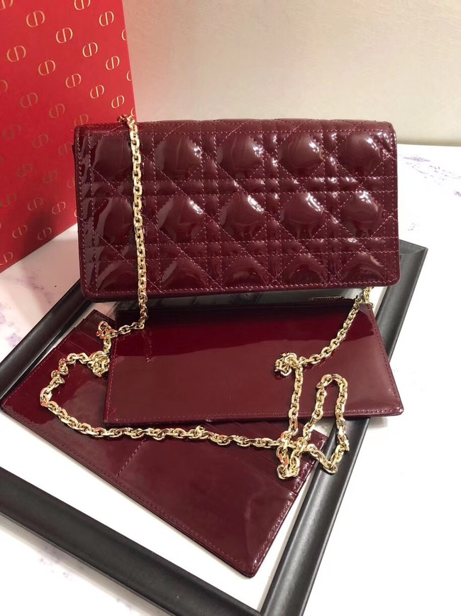 LADY DIOR CALFSKIN WALLET M9001 Bordeaux