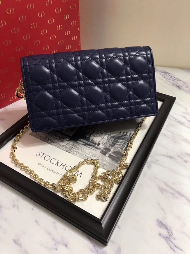 LADY DIOR-CLUTCH VAN LAMSLEER S0204 dark blue