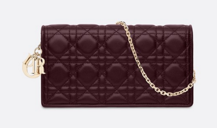 LADY DIOR-CLUTCH VAN LAMSLEER S0204 Bordeaux