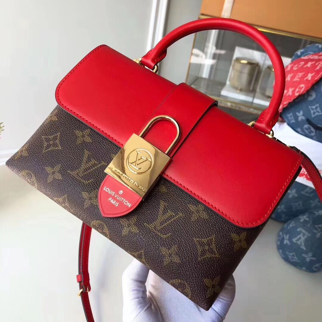 Louis Vuitton Original Leather LOCKY BB M44080 Coquelicot Red