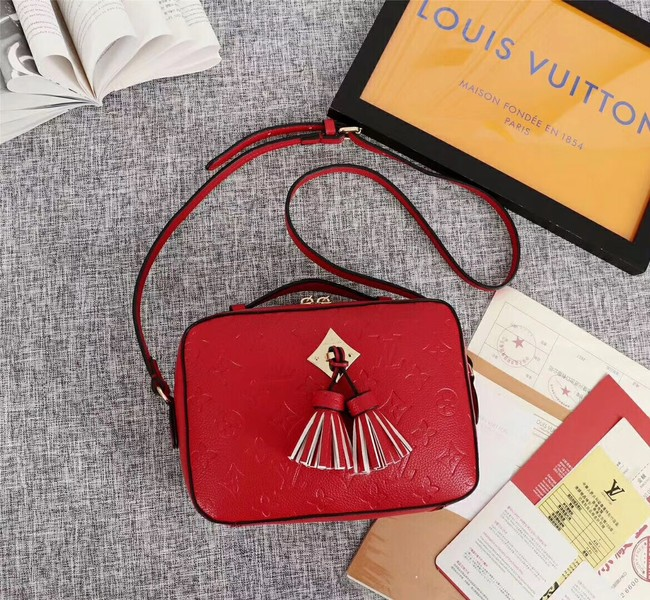 Louis vuitton mongram empreinte SAINTONGE M44593 red