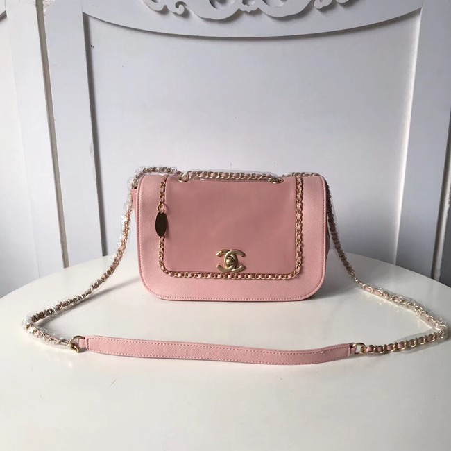 Chanel Calfskin & gold-Tone Metal AS0455 pink