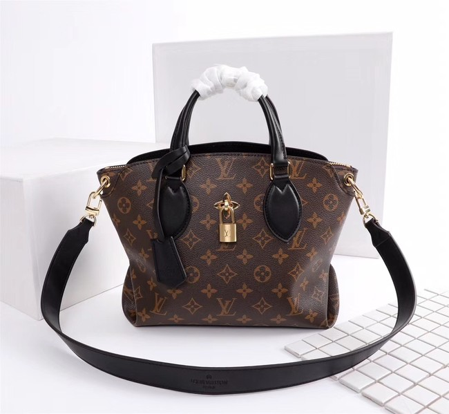 Louis Vuitton Monogram Canvas FLOWER ZIPPED TOTE BB M44350 black