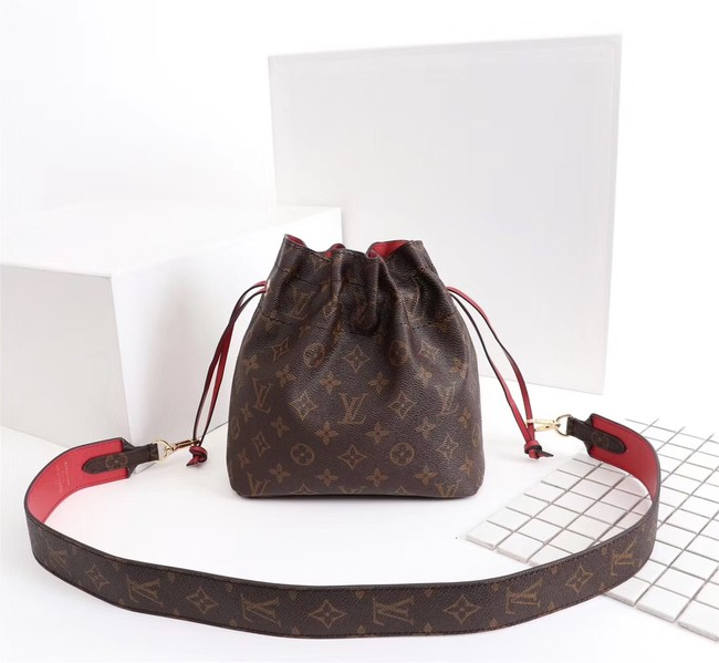 Louis Vuitton Monogram Canvas NOE POUCH M43445 red
