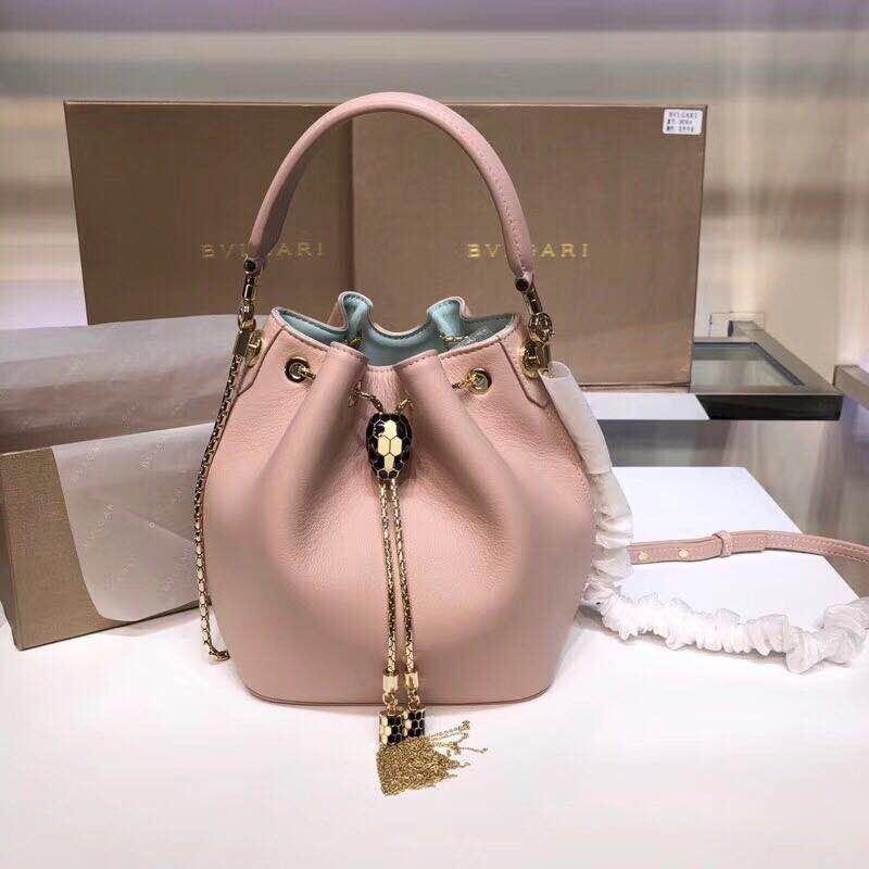 BVLGARI Serpenti Forever leather flap bag 287614 Pink