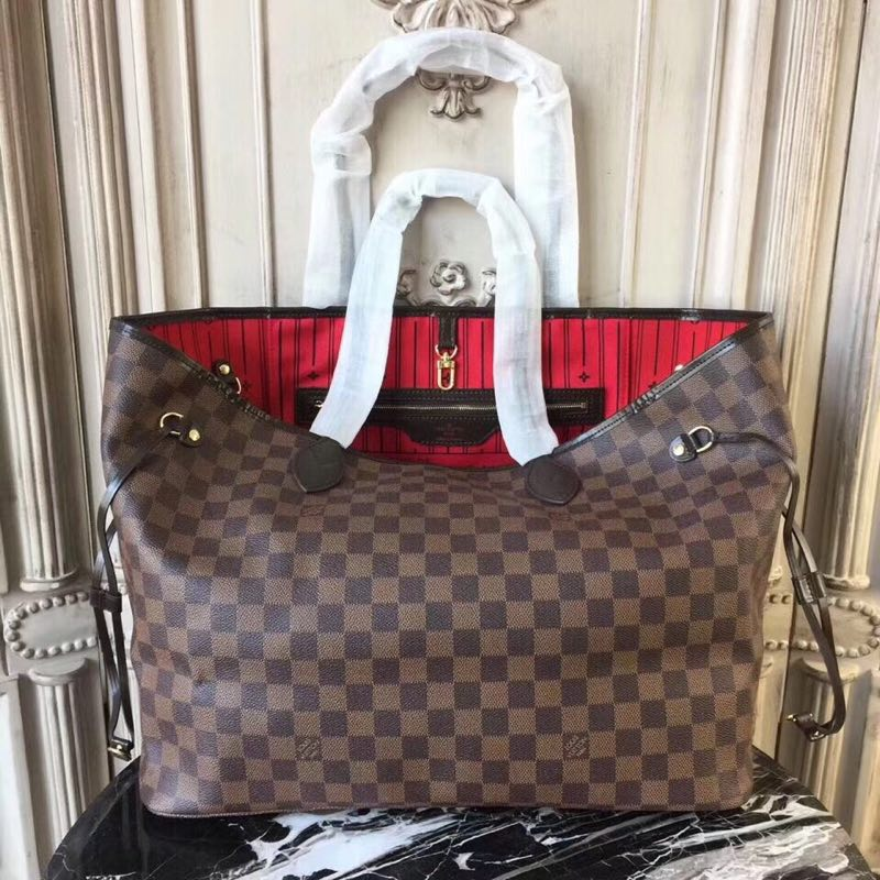Louis Vuitton original Damier Ebene Canvas Neverfull GM N51106