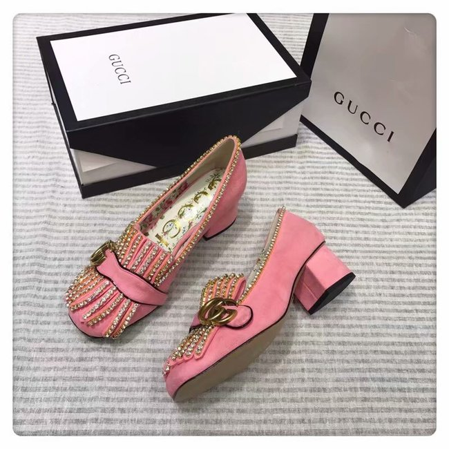 Gucci leather mid-heel pump GG1467BL-1