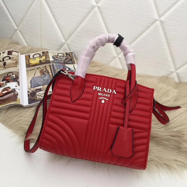 Prada Calf leather bag 1BA045 red