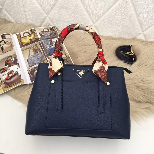 Prada Calf leather bag 5021 blue