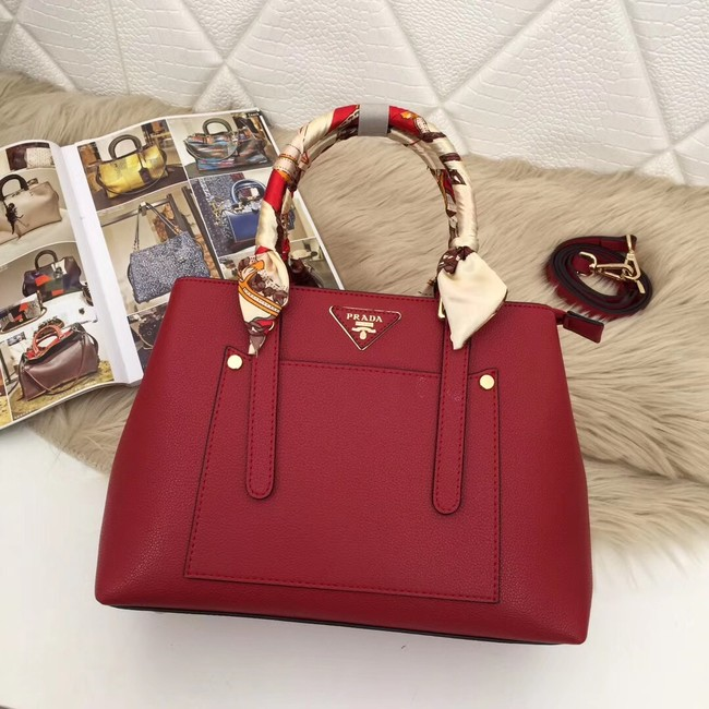 Prada Calf leather bag 5021 red