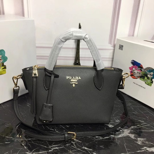 Prada Calf leather bag 1BA111 grey