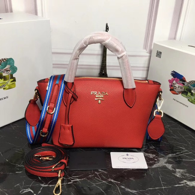 Prada Calf leather bag 1BA111 red