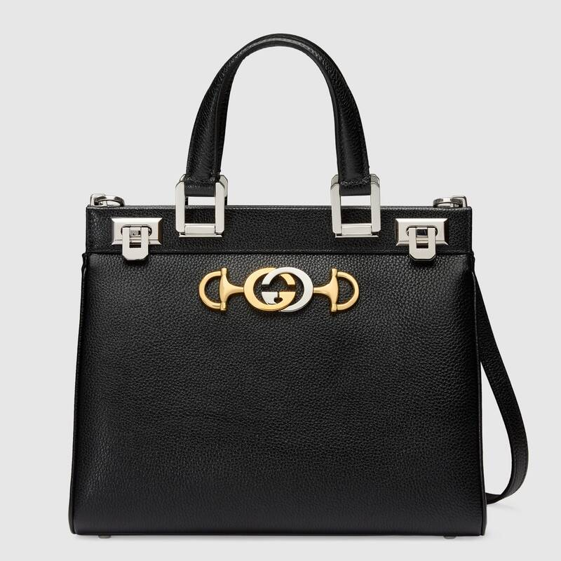 Gucci Zumi grainy leather small top handle bag 569712 Black