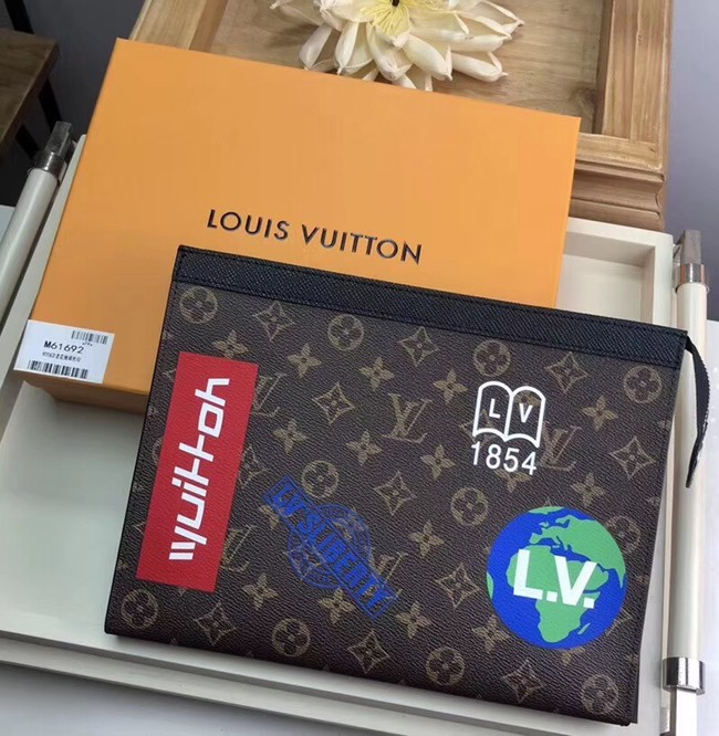 Louis vuitton original POCHETTE VOYAGE M61692 black