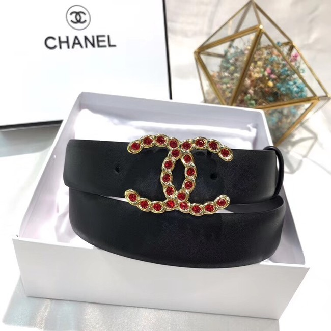 Chanel Calf Leather Belt Wide with 30mm 56588