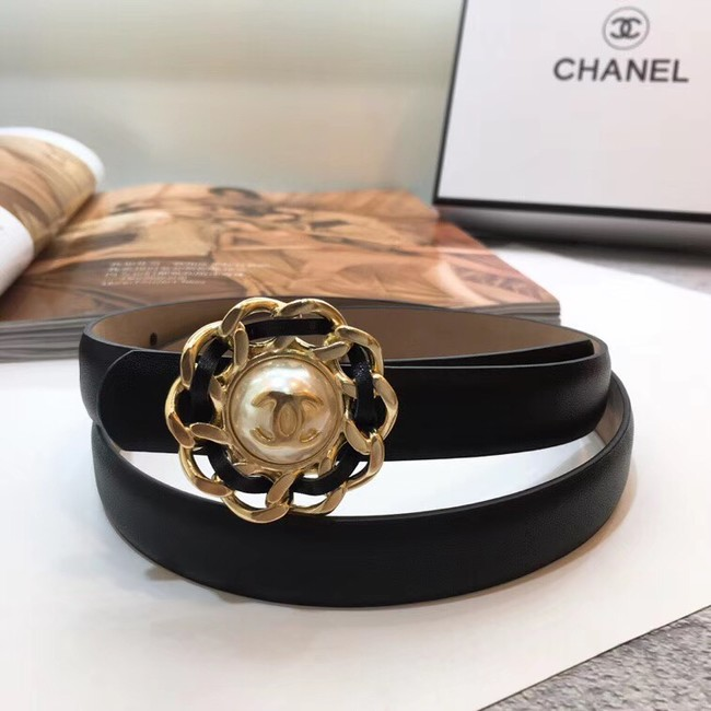 Chanel Calf Leather Belt Wide with 20mm 56611