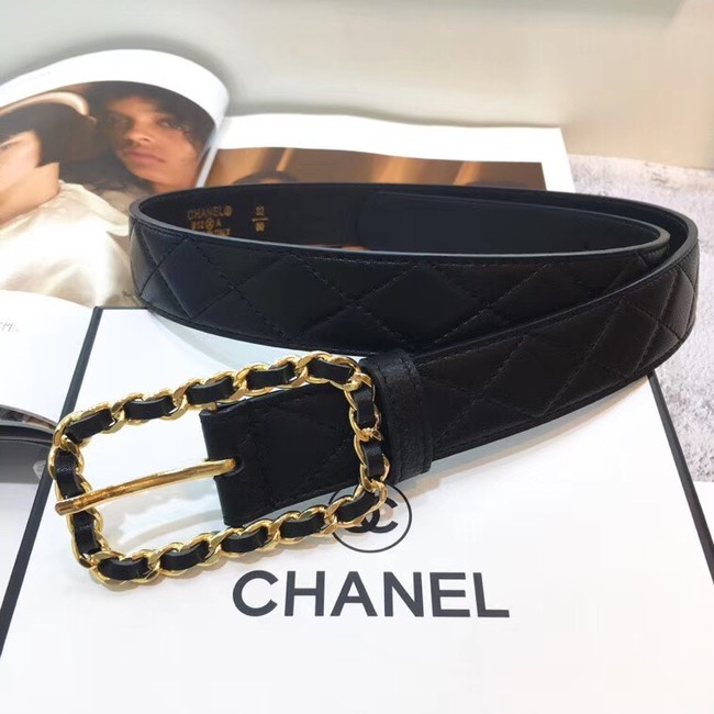 Chanel Calf Leather Belt Wide with 30mm 56600