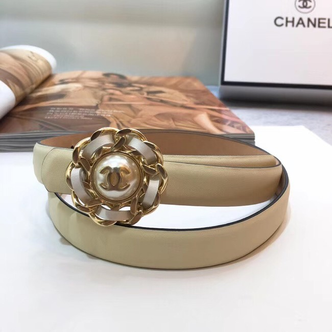 Chanel Calf Leather Belt Wide with 20mm 56612