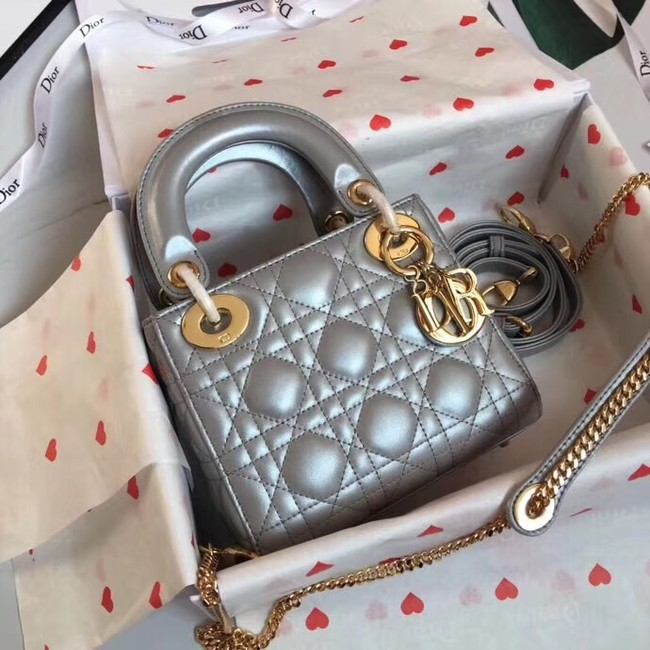 MINI LADY DIOR-TAS VAN LAMSLEER M15P grey