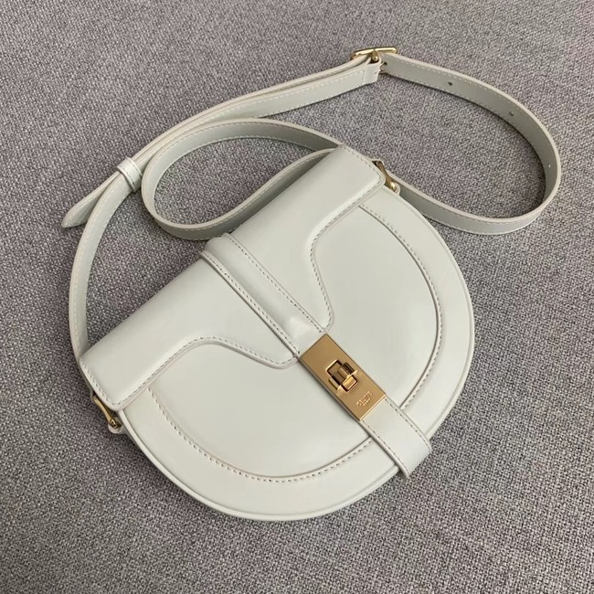 CELINE SMALL BESACE 16 BAG IN SATINATED CALFSKIN CROSS BODY 188013 WHITE