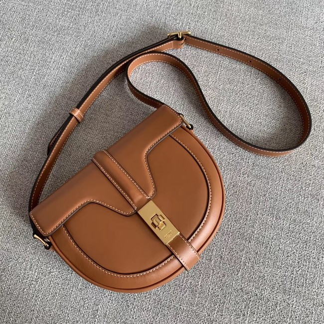 CELINE SMALL BESACE 16 BAG IN SATINATED CALFSKIN CROSS BODY 188013 TAN