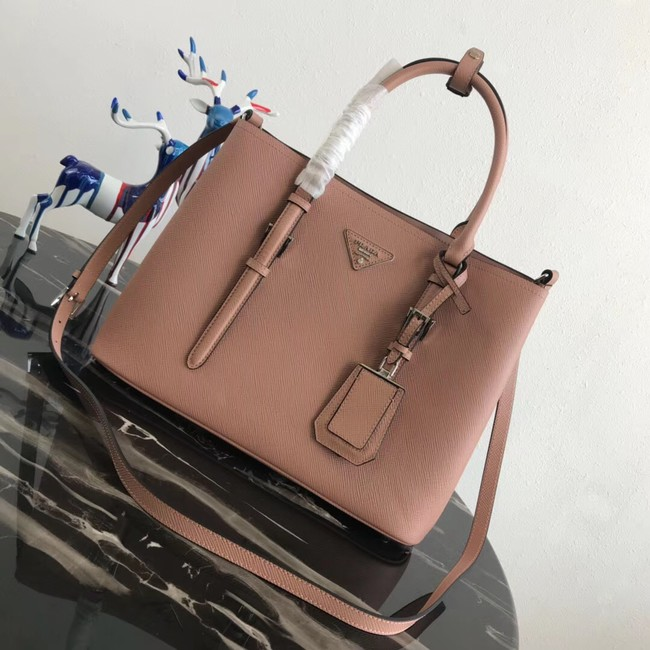 Prada Saffiano original Leather Tote Bag BN2838 pink
