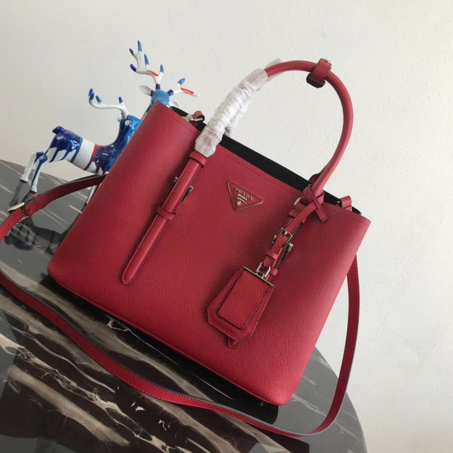 Prada Saffiano original Leather Tote Bag BN2838 red
