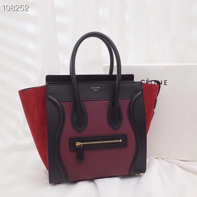 Celine Luggage Boston Tote Bags All Calfskin Leather C0189-1