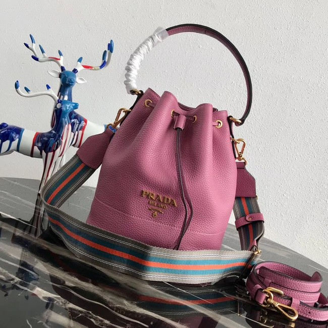 Prada Leather bucket bag 1BE018 rose
