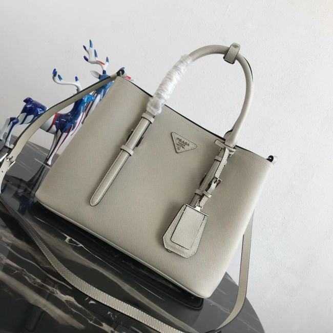Prada Saffiano original Leather Tote Bag BN2838 white