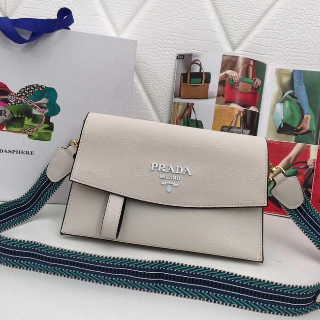 Prada Calf leather shoulder bag 66138 white